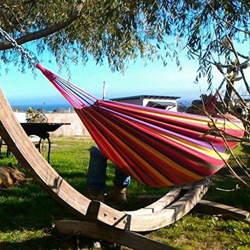ENKEEO - Hamaca Colgante de Algodón para Jardín Camping